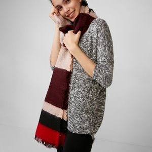 Express Colorblock Blanket Scarf